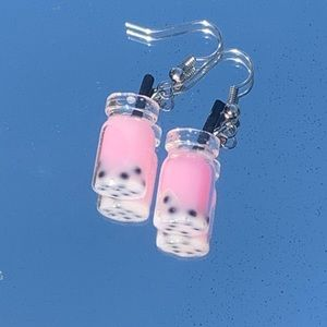 Pink Boba earrings